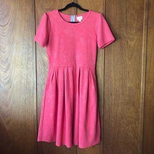 LuLaRoe Amelia Short Sleeve Light Pink Dress